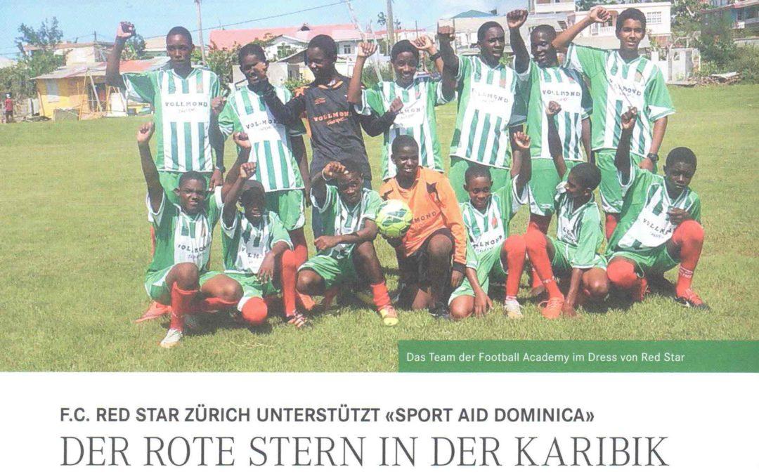 Sport Aid Dominica im Magazin des FC Red Star