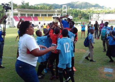 PSFB18 RDPS Celebrating 7-1 win